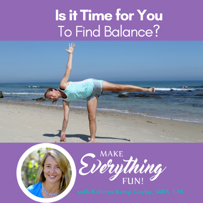 A quick tip to get back in balance on your journey to wellness