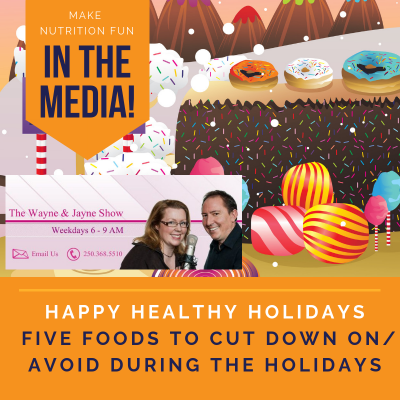 Happy Healthy Holiday Advice: Five Foods to Avoid (EZ Rock Interview)
