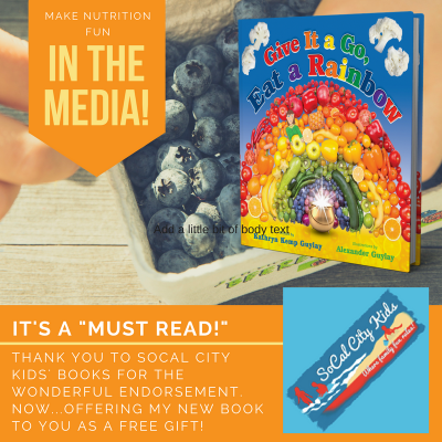 Eat a Rainbow is a Top Book Selections for Health, Nutrition and Parenting this Month!